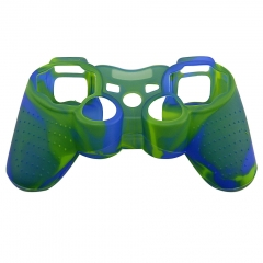 For PS3 Controller Silicon case blue+Green