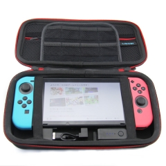 Hard Shell Carrying Case with Power 8000mAh Travel Charging Storage Bag with Game Card Holder for Nintendo Switch Console