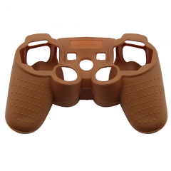 For PS3 Controller Silicon case coffee Color