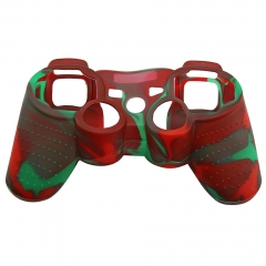 For PS3 Controller Silicon case Red+Green