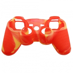 For PS3 Controller Silicon case red+yellow