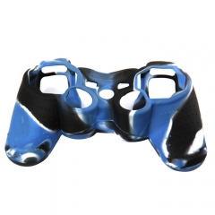 For PS3 Controller Silicon case blue+black