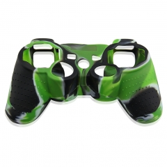 For PS3 Controller Silicon case light green+black