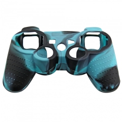 For PS3 Controller Silicon case sky blue+black