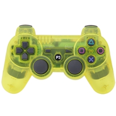 PS3 Wireless Joypad Crystal Yellow pp bag