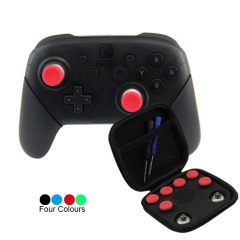 8Pcs Metal Swap Thumbsticks Grips Stick and D-Pad Button Set for Nintendo Switch Controller