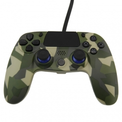 PS4 Wired Controller Camouflage blue PP bag