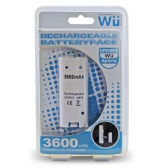 Wii 3600mAh rechargeable battery pack