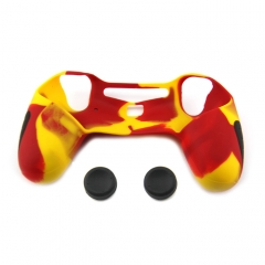 PS4 Controller Silicone Case with 2pcs joystick caps