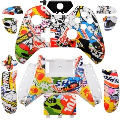 Custom Hydro dipped Sticker Bomb Controller Shell for Xbox one controllers