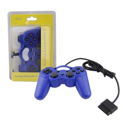 PS2 wired controller-Blue