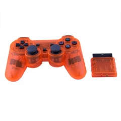 PS2 2.4G wireless controller -Crystal Orange