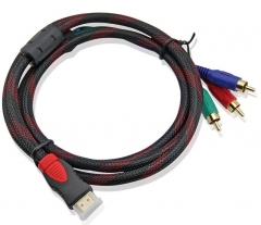 HDMI to 3RCA Cable with Woven V1.4