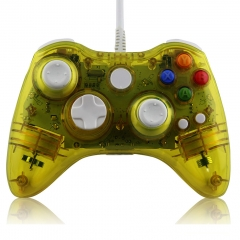 Crystal Color Wired Game Controller Joypad With LED for Xbox 360 PP Packing