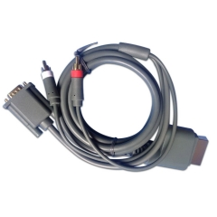 HD Video Audio AV Cable Monitor VGA/+ 2RCA Cable Cord Connecter For Xbox 360 Console