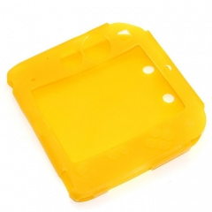Silicone Soft Skin Protective Case Cover for Nintendo 2DS Console Yellow