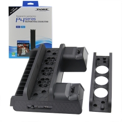 Multifunctional Cooling Stand with Cooler Discs Slot and Controller Charging Dock for PS4 Slim/PRO