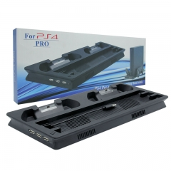 New Multifunctional Cooling Stand with Controller Charging LED Dock for PS4 pro Black color