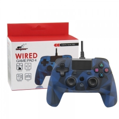 PS4/PS3/PC Wired Controller with sensor function  camouflage blue