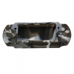 PSP 3000 silicon Case Camouflage Gray+black