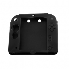 Silicone Soft Skin Protective Case Cover for Nintendo 2DS Console black