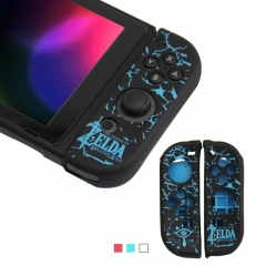 Nintendo Switch Zelda Joy Controller Silicone Case-Black+Blue