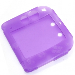 Silicone Soft Skin Protective Case Cover for Nintendo 2DS Console-Purple