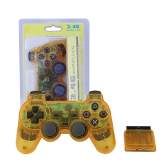 PS2 2.4G wireless controller -Crystal Yellow