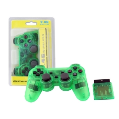 PS2 2.4G wireless controller -Crystal Green