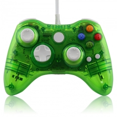 Wired Game Controller Joypad With LED for Xbox 360 PP Packing -Crystal Green
