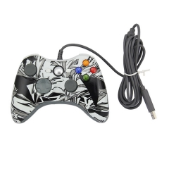 Wired Game Controller Gamepad Joypad for Xbox 360 PP Packing- Black+ White