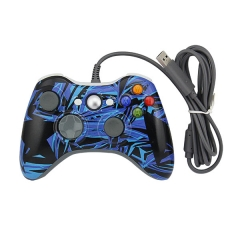 Wired Game Controller Gamepad Joypad for Xbox 360 PP Packing- Camouflage  Blue
