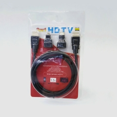 HDMI to HDMI/micro/ mini 3 in 1 cable 1.5M V1.4