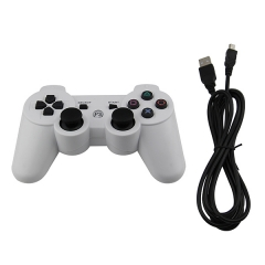 PS3 Wired Controller  (white)PP Bag